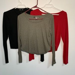 Long sleeve crop tops